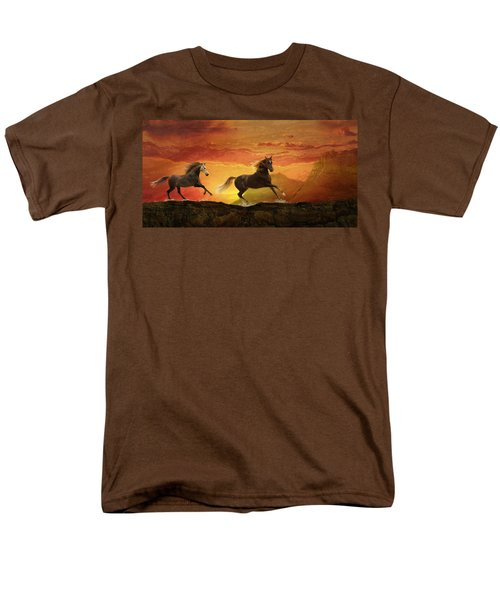 Fire Sky Men's T-Shirt  (Regular Fit)
