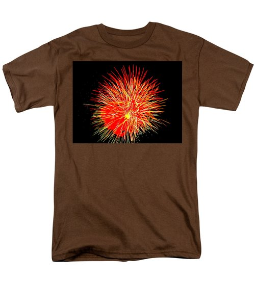 Fireworks In Red And Yellow Men's T-Shirt  (Regular Fit) by Michael Porchik