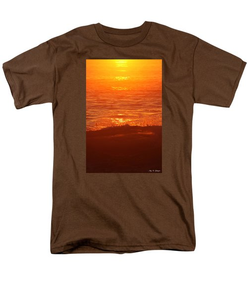 Men's T-Shirt  (Regular Fit) featuring the photograph Flames With No Horizon by Amy Gallagher