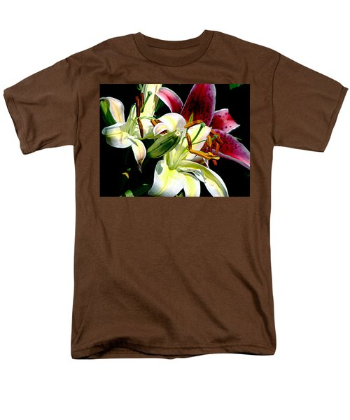Men's T-Shirt  (Regular Fit) featuring the photograph Florals In Contrast by Ira Shander
