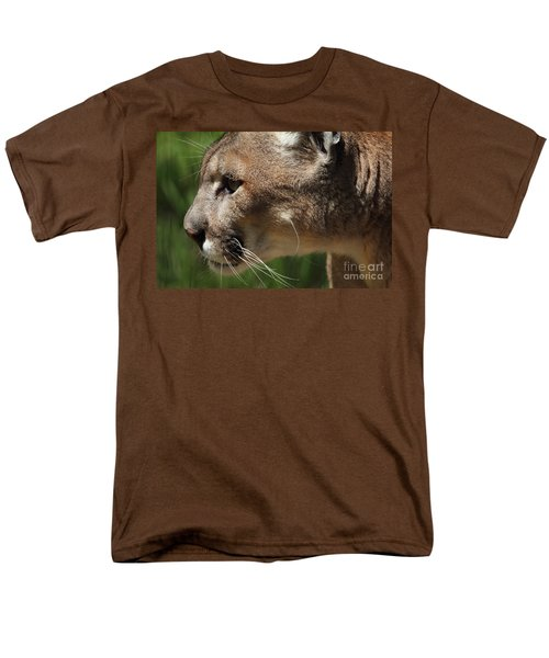 Men's T-Shirt  (Regular Fit) featuring the photograph Florida Panther Profile by Meg Rousher