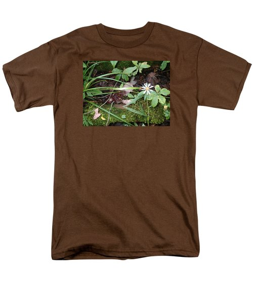 Men's T-Shirt  (Regular Fit) featuring the photograph Flower In The Woods by Robert Nickologianis