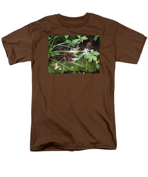 Flower In The Woods Men's T-Shirt  (Regular Fit) by Robert Nickologianis