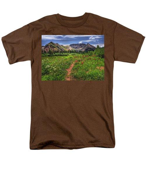 Flower Walk Men's T-Shirt  (Regular Fit) by Priscilla Burgers