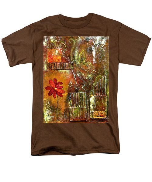 Flowers Grow Anywhere Men's T-Shirt  (Regular Fit) by Bellesouth Studio