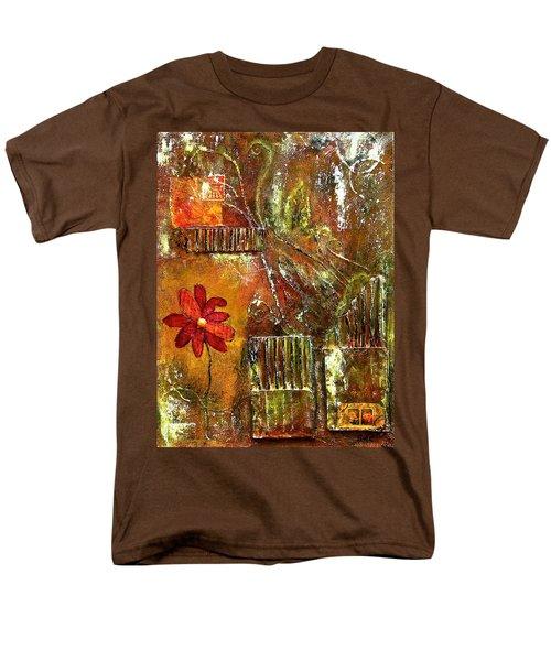 Flowers Grow Anywhere Men's T-Shirt  (Regular Fit)