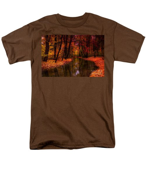 Flowing Through The Colors Of Fall Men's T-Shirt  (Regular Fit) by Hannes Cmarits