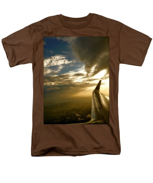 Men's T-Shirt  (Regular Fit) featuring the photograph Flying Clouds By David Pucciarelli by Iconic Images Art Gallery David Pucciarelli