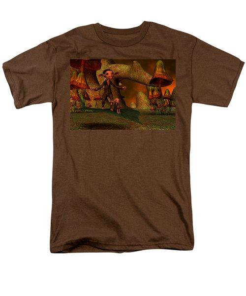 Men's T-Shirt  (Regular Fit) featuring the digital art Flying Through A Wonderland by Gabiw Art