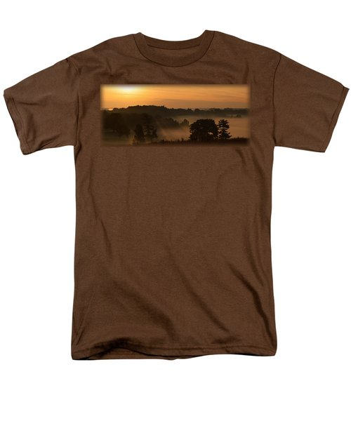 Foggy Morning At Valley Forge Men's T-Shirt  (Regular Fit) by Michael Porchik