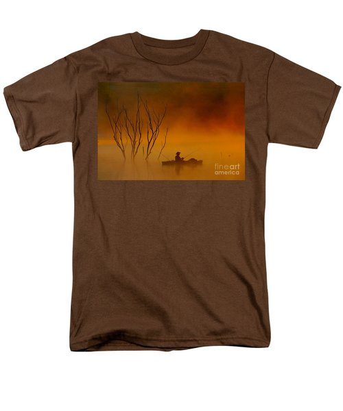 Foggy Morning Fisherman Men's T-Shirt  (Regular Fit)