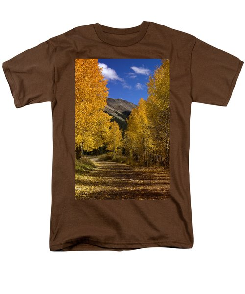 Men's T-Shirt  (Regular Fit) featuring the photograph Follow The Gold by Ellen Heaverlo