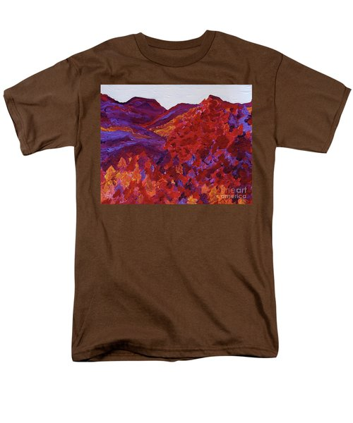 Men's T-Shirt  (Regular Fit) featuring the painting Forest Fantasy By Jrr by First Star Art