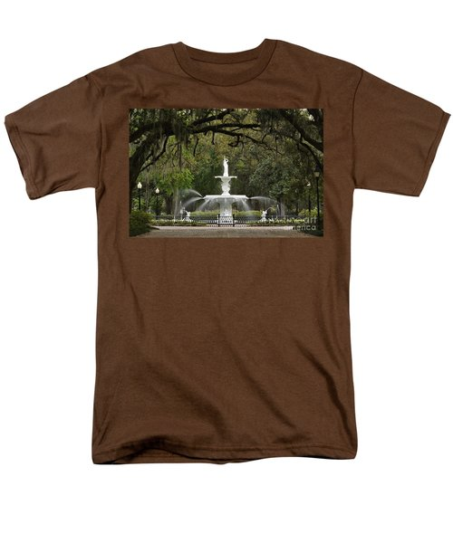 Forsyth Park Fountain - D002615 Men's T-Shirt  (Regular Fit) by Daniel Dempster