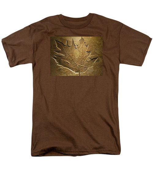 Fossilized Maple Leaf Men's T-Shirt  (Regular Fit) by Connie Fox