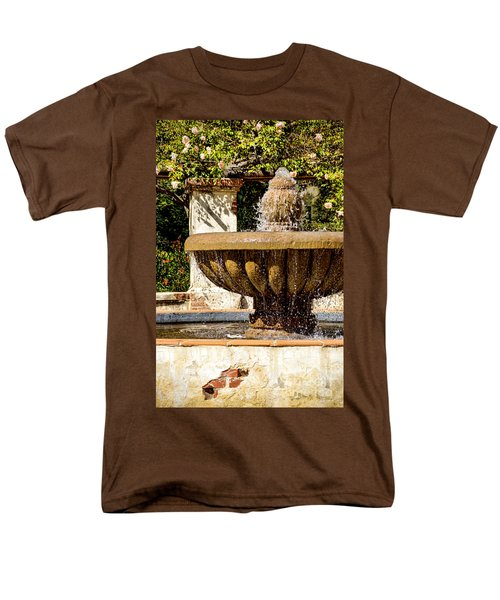 Men's T-Shirt  (Regular Fit) featuring the photograph Fountain Of Beauty by Peggy Hughes