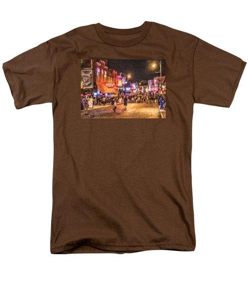 Friday Night On Beale Men's T-Shirt  (Regular Fit) by Liz Leyden