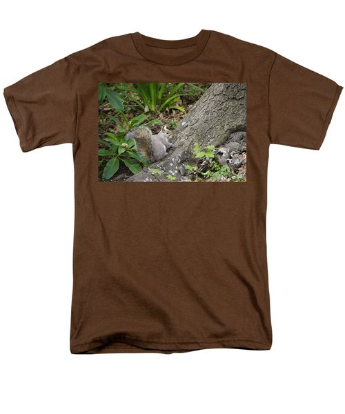 Men's T-Shirt  (Regular Fit) featuring the photograph Friendly Squirrel by Marilyn Wilson