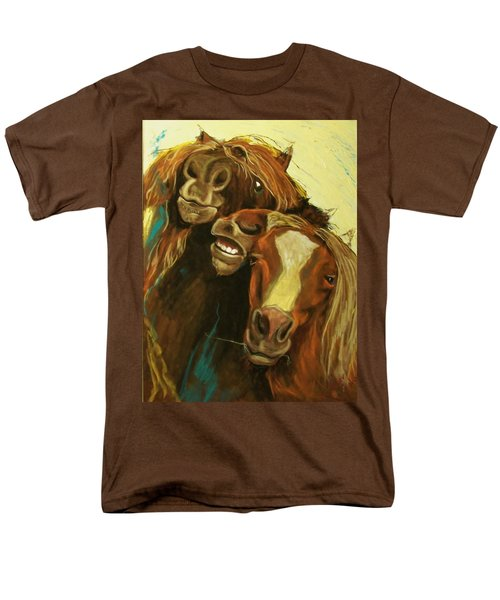 Men's T-Shirt  (Regular Fit) featuring the mixed media Friends by Peter Suhocke