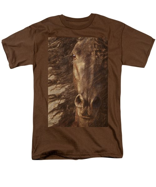 Friesian Spirit Men's T-Shirt  (Regular Fit) by Melinda Hughes-Berland