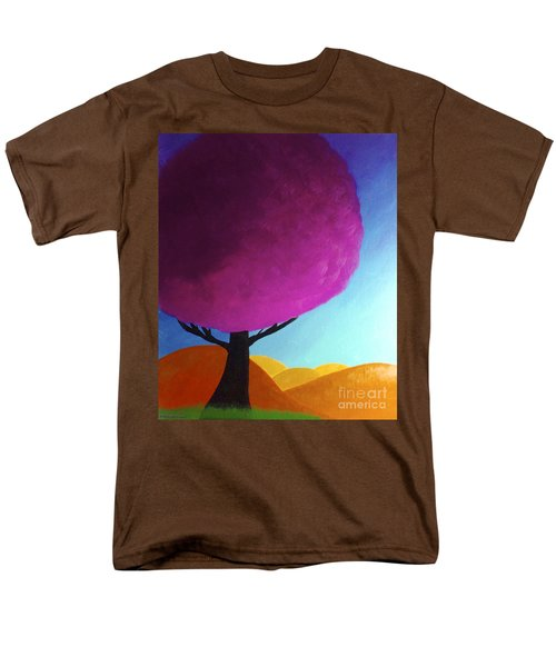 Men's T-Shirt  (Regular Fit) featuring the painting Fuchsia Tree by Anita Lewis