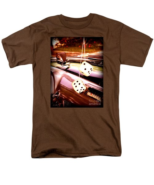 Men's T-Shirt  (Regular Fit) featuring the digital art Fuzzy Dice by Valerie Reeves