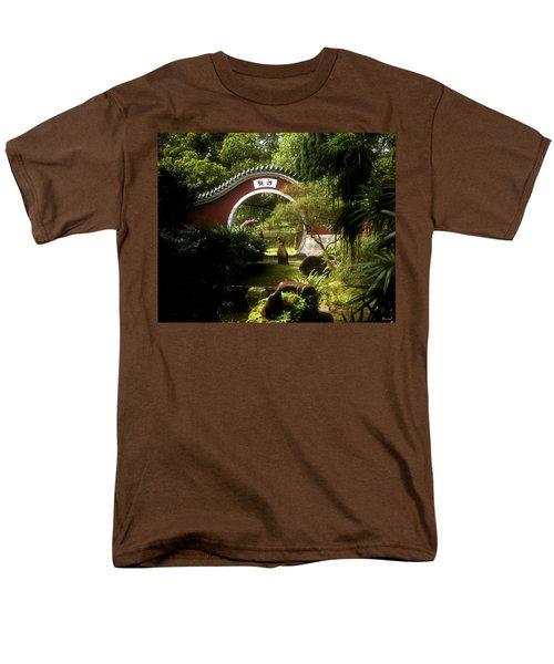 Men's T-Shirt  (Regular Fit) featuring the photograph Garden Moon Gate 21e by Gerry Gantt