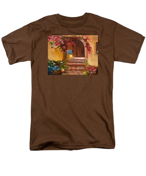 Men's T-Shirt  (Regular Fit) featuring the painting Garden Of Serenity by Jenny Lee