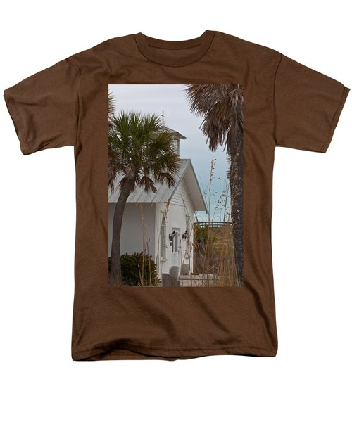 Men's T-Shirt  (Regular Fit) featuring the photograph Gasparilla Island State Park Chapel by Ed Gleichman