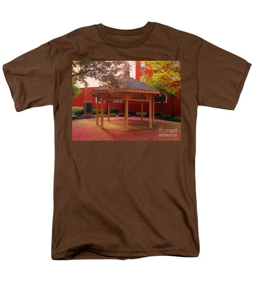 Men's T-Shirt  (Regular Fit) featuring the photograph Gazebo In Pink by Becky Lupe