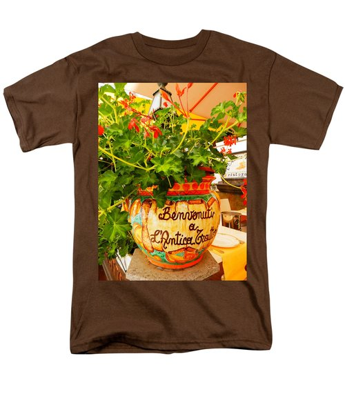 Geranium Planter Men's T-Shirt  (Regular Fit) by Pema Hou