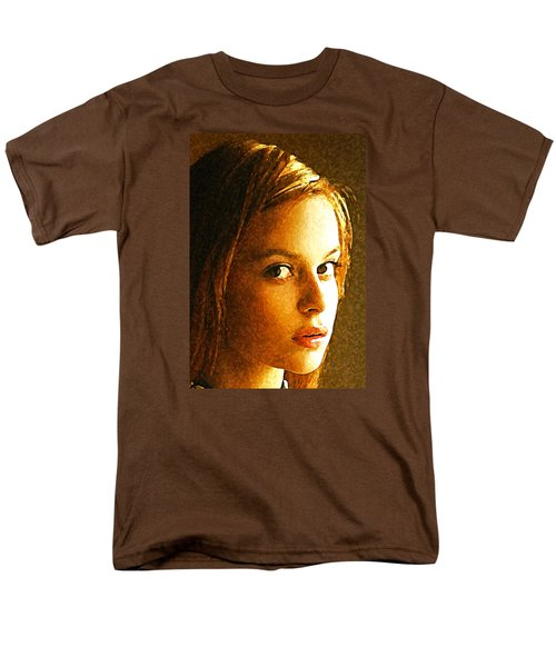 Men's T-Shirt  (Regular Fit) featuring the painting Girl Sans by Richard Thomas
