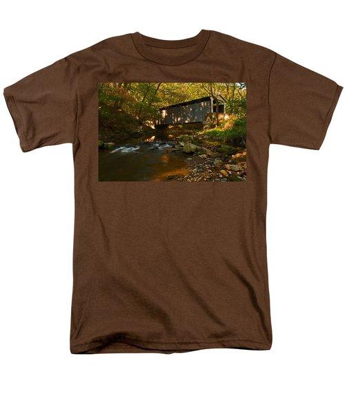 Glen Hope Covered Bridge Men's T-Shirt  (Regular Fit) by Michael Porchik