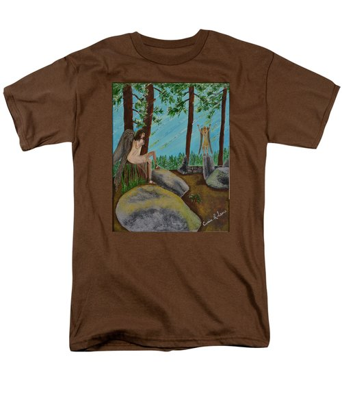 Men's T-Shirt  (Regular Fit) featuring the painting God Calls His Angels by Cassie Sears