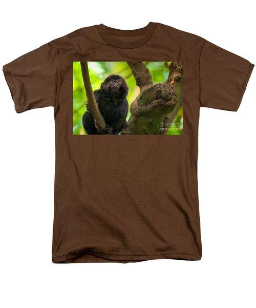 Men's T-Shirt  (Regular Fit) featuring the photograph Goeldi's Callimico by Bianca Nadeau