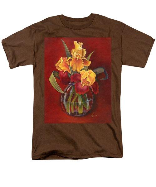Gold N Red Iris Men's T-Shirt  (Regular Fit) by Doreta Y Boyd
