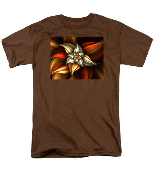 Men's T-Shirt  (Regular Fit) featuring the digital art Golden Beauty by Ester  Rogers