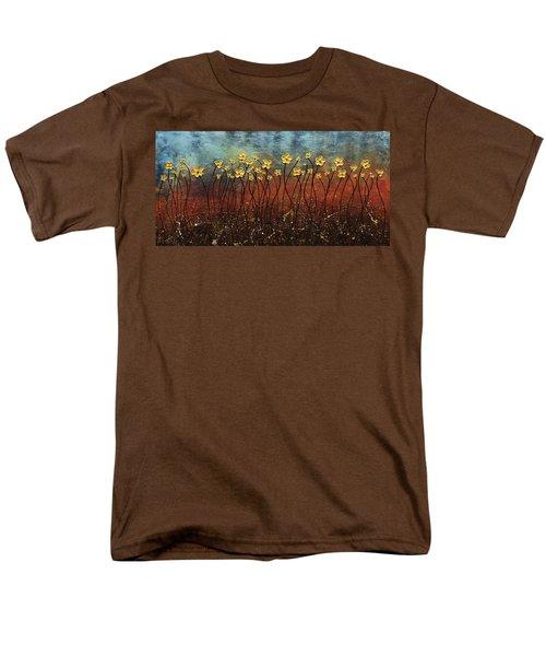 Golden Flowers Men's T-Shirt  (Regular Fit) by Carmen Guedez