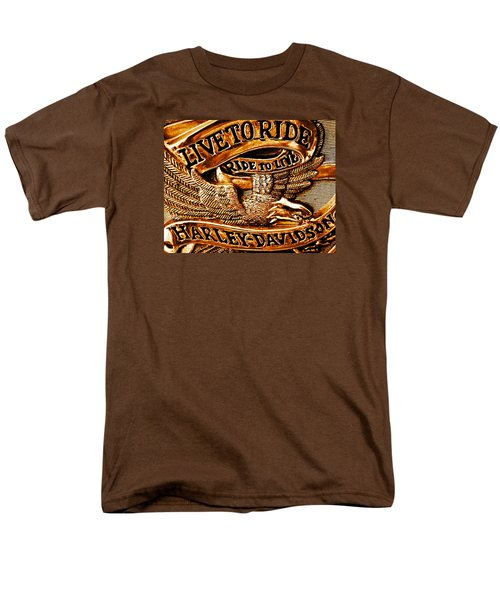 Golden Harley Davidson Logo Men's T-Shirt  (Regular Fit) by Chris Berry