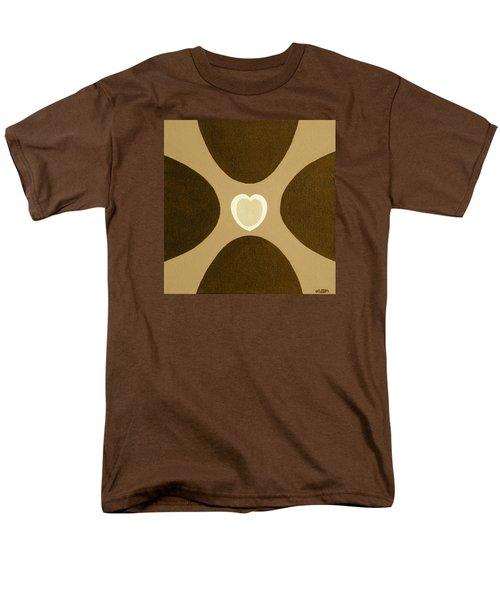 Golden Heart 3 Men's T-Shirt  (Regular Fit) by Lorna Maza