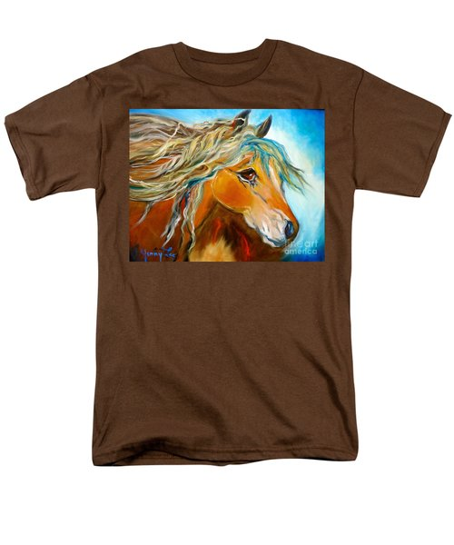 Men's T-Shirt  (Regular Fit) featuring the painting Golden Horse by Jenny Lee
