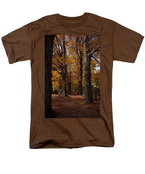 Golden Rows Of Maples Guide The Way Men's T-Shirt  (Regular Fit) by Jeff Folger