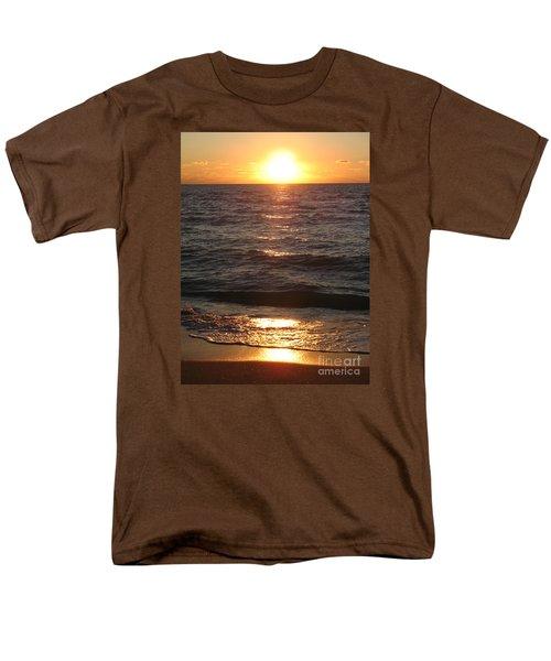 Men's T-Shirt  (Regular Fit) featuring the photograph Golden Sunset At Destin Beach by Christiane Schulze Art And Photography
