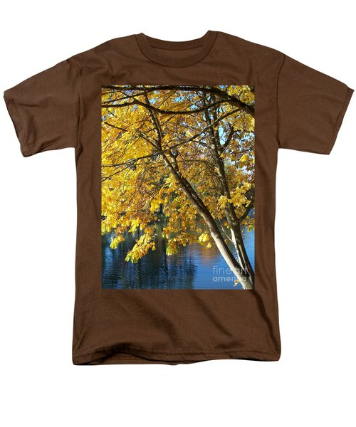 Men's T-Shirt  (Regular Fit) featuring the photograph Golden Zen by Chalet Roome-Rigdon