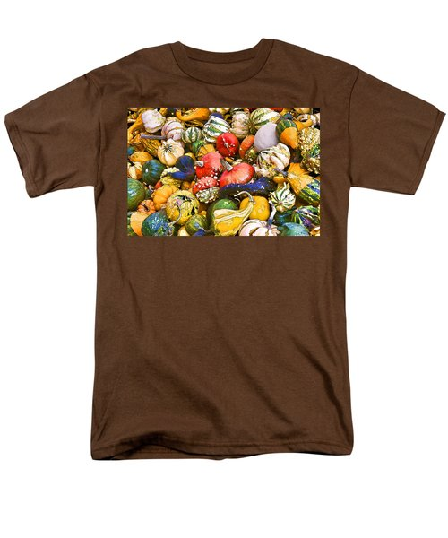 Gourds And Pumpkins At The Farmers Market Men's T-Shirt  (Regular Fit) by Peggy Collins
