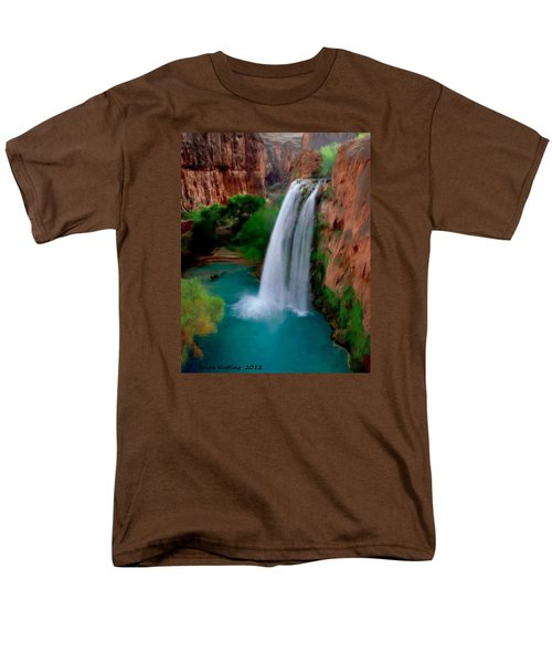 Men's T-Shirt  (Regular Fit) featuring the painting Grand Canyon Waterfalls by Bruce Nutting