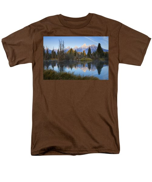 Grand Teton Morning Reflection Men's T-Shirt  (Regular Fit) by Sonya Lang