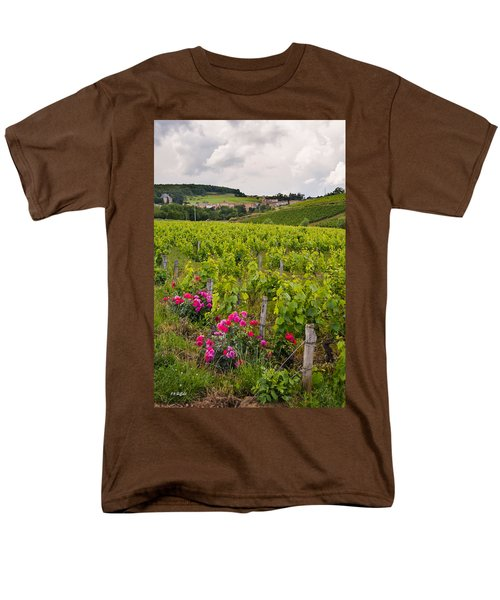 Men's T-Shirt  (Regular Fit) featuring the photograph Grapes And Roses by Allen Sheffield
