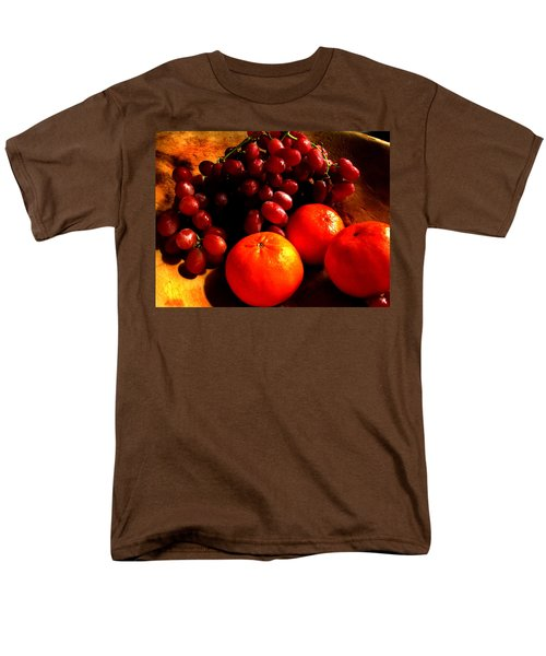 Men's T-Shirt  (Regular Fit) featuring the photograph Grapes And Tangerines by Greg Allore