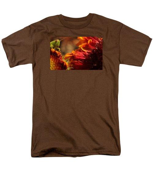 Grasshopper In The Marigolds Men's T-Shirt  (Regular Fit) by Joel Loftus